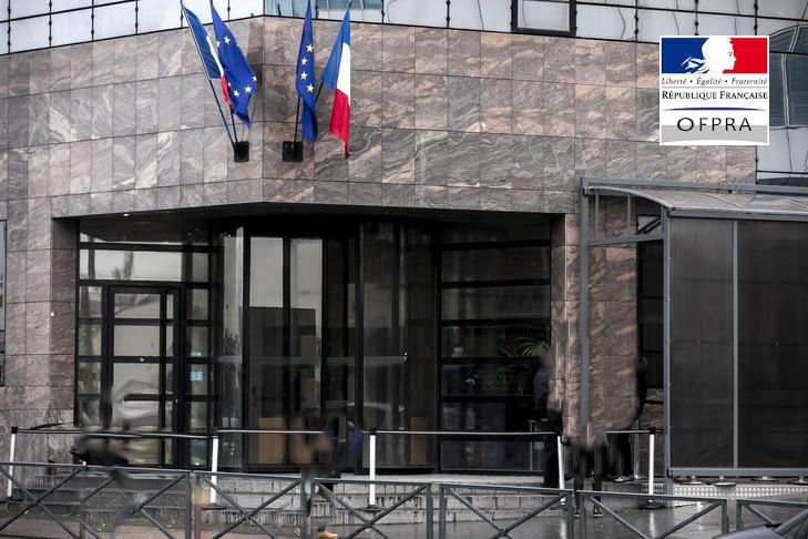 Façade de l'OFPRA à Montreuil
